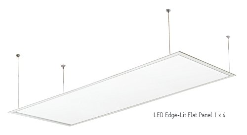 Hanging Set For Suspended Mount Of Asd Led Edge Lit Flat Panels 1x4 And 2x2