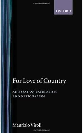 An essay on patriotism