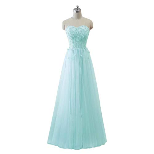 Frauen Perlen Schatz Formal Tulle Ballkleider King's Long Love Abendkleid 10 Maxi EFwf5Z