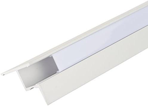 Perfíl de Aluminio para LEDS Instalación Techos Falsos - Difusor ...