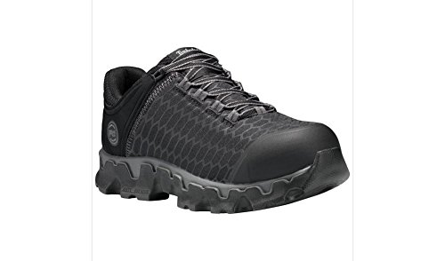 Timberland PRO Women's Powertrain Sport Alloy Toe SD+ Industrial and Construction Shoe, Black Synthetic, 10 W US