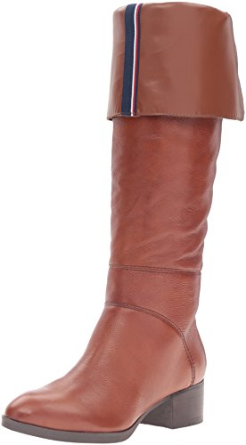 Tommy Hilfiger Women's Gianna Western Boot, Chestnut, 8 M (Woman Boots Tommy Hilfiger)