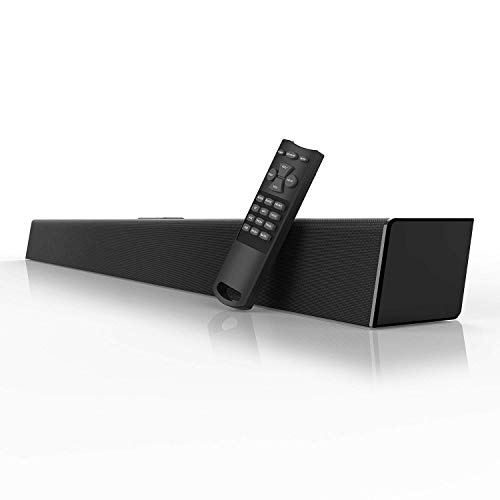(80 Watt Sound Bar, MEGACRA Soundbar 38-Inch 6 Drivers Wired and Wireless Home Theater Surround Sound Speaker for TV ( IR Learning Remote, Optical, Coaxial, DSP, Bass & Treble Adjustable))