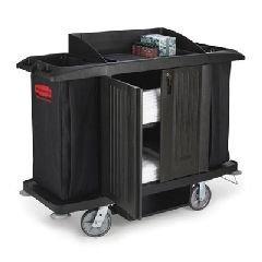 C-Housekeeping Cart W/Dos & Vinyl Bag,Black (1)