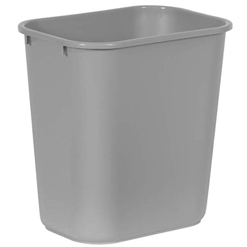 - Rubbermaid Commercial Products FG295600GRAY Plastic Resin Deskside Wastebasket, 7 Gallon/28 Quart, Gray