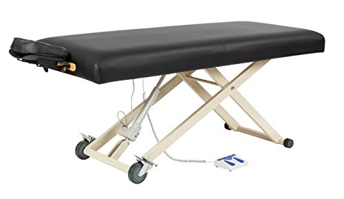 SierraComfort Electric Lift Massage Table, Black
