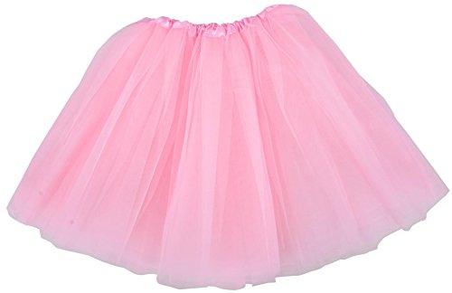 Adult Ballerina (Simplicity Women's Classic Elastic, 3-Layered Tulle Tutu Skirt,)