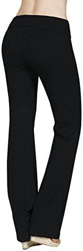 Active USA Regular Leg Stretch Cotton Fold Over Workout Yoga Pants 3