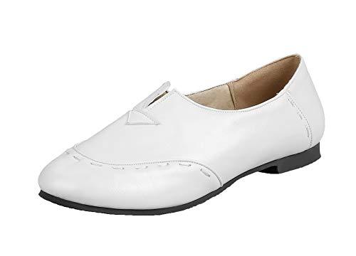 Punta Agoolar Ballet Bianco Tacco flats Donna Gmmda010986 Basso Puro Tonda Tirare TXZTR