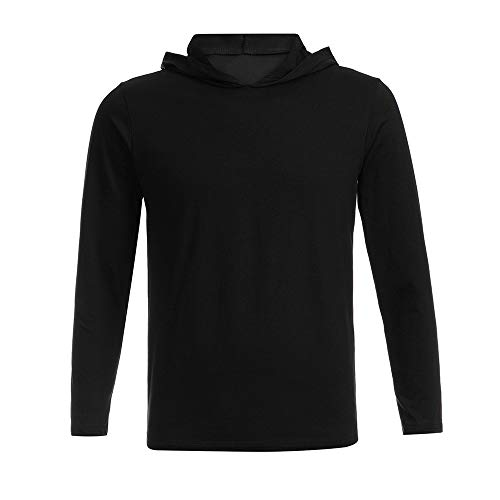 NRUTUP Men's Long Sleeve Sweater Letter Printed Hooded Sweater Slim Fit Blouse Top Casual Autumn.(Black,XL) by NRUTUP (Image #2)