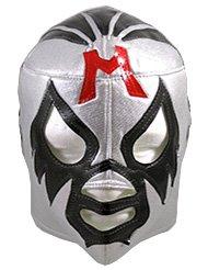 [MIL MASCARAS Lucha Libre Wrestling Mask (pro-fit) Costume Wear - Silver] (Custom Wrestling Costumes)