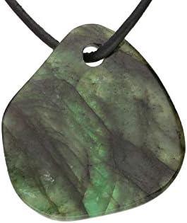 Edmira 19 x 21 mm Ciondolo con smeraldo con foro da 2,5 mm