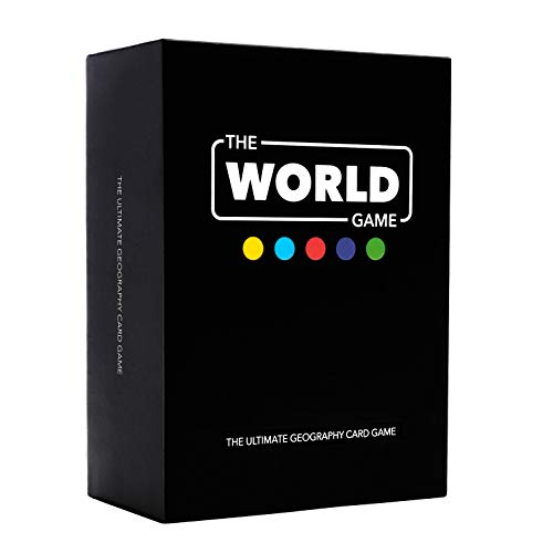 The World Game - Geography Card Game - Educational Travel Board Game for Adults, Family & Kids (Best Educational Board Games)