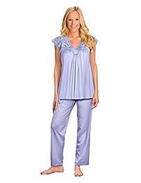 Shadowline Women's Plus-Size Silhouette Short Cap Sleeve Pajama Set
