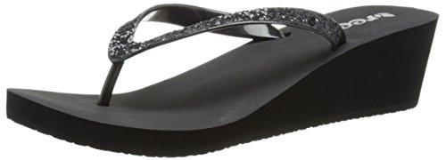 Reef Women's Mid Mist II Sandal, Black, 11 M US