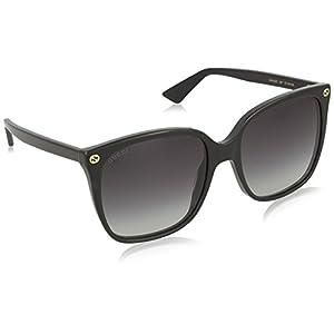Gucci Women GG0022S 57 Black/Grey Sunglasses 57mm