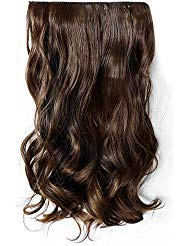 20 Inch Curly Wave Clips Synthetic Hair Extensions