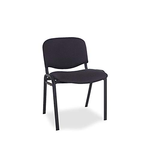 Alera SC67FA10B Reception-Style Stacking Chairs with Black Fabric Upholstery