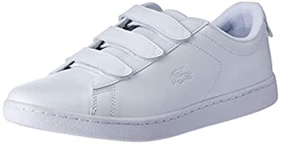Lacoste Carnaby EVO STRAP1191 Fashion Shoes, WHT/WHT, 5 US