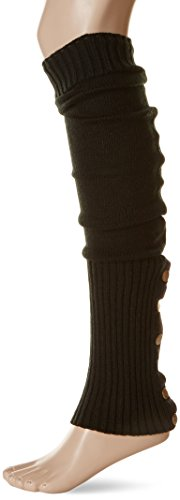 Leg Avenue Women's Leg Warmers with Button Side, Black, One Size (Leg Warmers With Button Side)