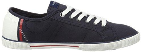 Pepe Jeans London Herren Aberman Print Sneakers Blau (Marine)