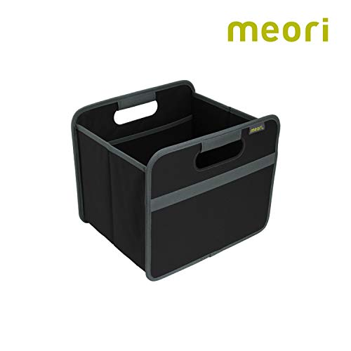 - meori A100025 Classic Collection Small Foldable Storage Box, 15 Liter / 4 Gallon, in Lava Black To Organize and Carry Up To 65lbs