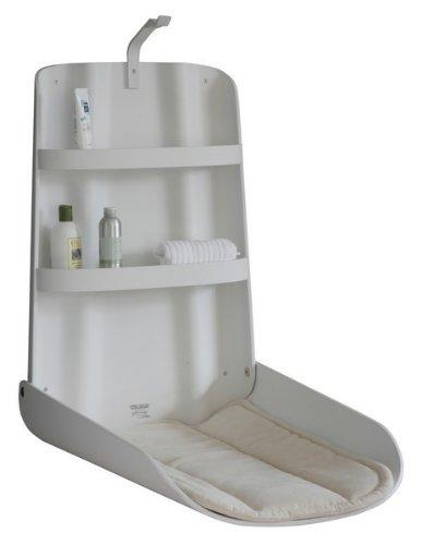 Holzwickeltisch Klappbar Design, Farbe:Weiß
