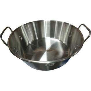 "Acero Ware 20"" Stainless Steel XL Cazo Para Carnitas - Wok - Frying Pot -"