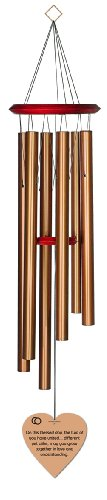 Chimesofyourlife blessed day-heart-35-bronze Blessed Day Wedding Wind Chime, 35-Inch, Bronze