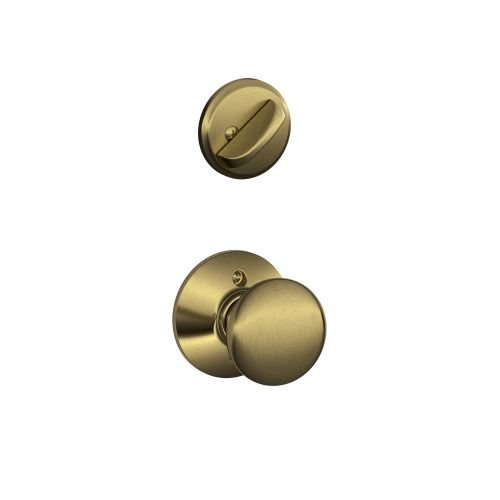 Schlage F59 PLY 609  12-326 10-269 Plymouth Handleset Interior Knob, Antique Brass (Interior Half Only) Antique Brass Plymouth