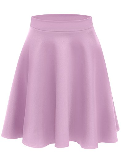 Lilac Skirts for Women Skater Skirt Lilac High Waisted Flare Skirt a Line Pleated Skirt Lilac Skirt (Size X-Large (US 14-16), Lilac)