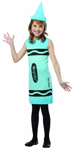 Sky Crayola Dress Child Blue Costumes Tank (Rasta Imposta Crayola Tank Dress, 7-10, Sky)