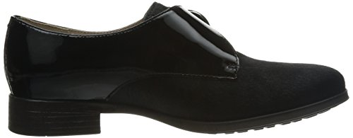 Jazz de Leather Zapatos Mujer Busby Clarks Interest cordones Black aHw57Zq