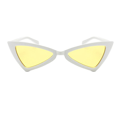 Pair White 4 Femme Sunglass De Soleil 2 yellow Lunette Aolvo wxq8nIt6XH