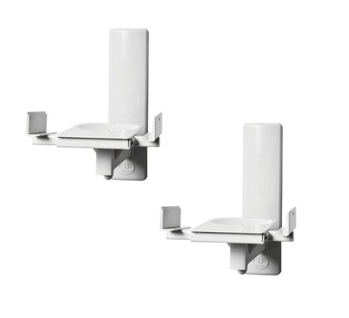 B-Tech BT77 - Ultragrip ProTM Side Clamping Loudspeaker Wall Mounts with Tilt and Swivel - Finished in White
