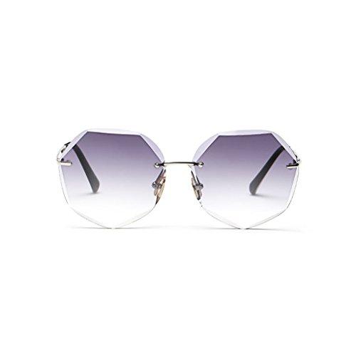 poligonales de Femenina la Gradual Gafas Blue de Marco Color Pink sol WLHW Purple Tendencia Cambio qpxxwR0TI