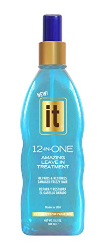 IT 12-in-ONE Amazing Leave In Treatment Spray, 10.2oz | Repairs and Restores Damaged Frizzy Hair | Heals Breakage and Split Ends | For Dry, Damaged Hair | Paraben Free
