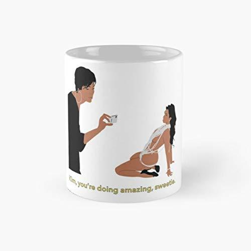Kim, you're doing amazing, sweetie. Mug, kardashian Funny Mugs, 11 Ounce Ceramic Mug, Perfect Novelty Gift Mug, Tea Cups, Funny Coffee Mug 11oz, Tea -