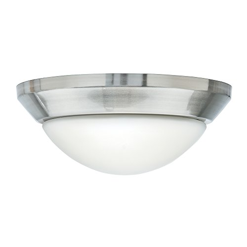 Nickel Globe (Casablanca 99051 Incandescent Globe Fixture with Cased White Glass, Brushed Nickel)