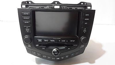 04 05 06 07 HONDA ACCORD NAVIGATION CD PLAYER - Accord Cd
