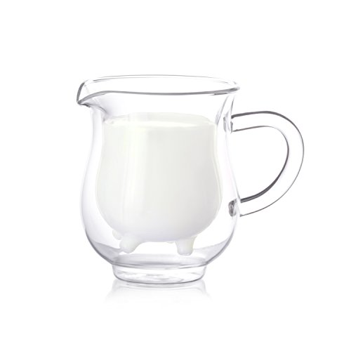 Eparé 8 oz Strong Double Wall Insulated Borosilicate Thermo Glass Milk Creamer Pitcher (Small Martini Pitcher compare prices)