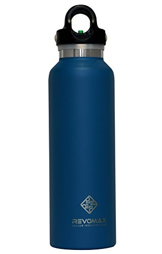 RevoMax Twist Free Insulated Stainless Steel Water Bottle with Standard Mouth, 20 oz, Jewelry Blue 20 Ounce Bike Bottle