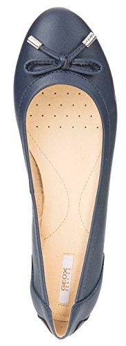 en fémina Charlene Bailarinas Planos Merceditas Verano del Bailarinas Geox Lazo Clásicas Mujer Dunkelblau Bailarinas Zapatos D84Y7A Zapatos Elegante Ocio F40vdqxZ