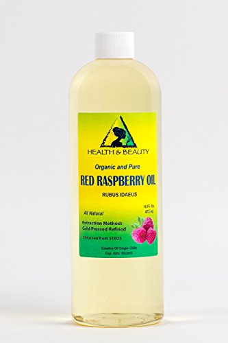 Red Raspberry Seed Oil Organic Refined Cold Pressed 100% Pure 16 oz