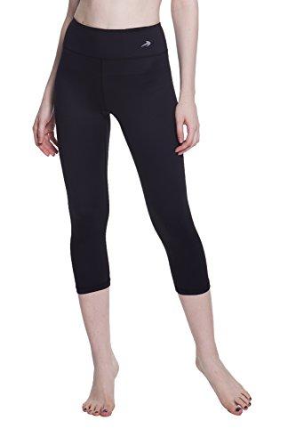 Women's Compression Capri's (Black - L) - Body Slimming for Yoga, Hidden Pocket, Amazing Workout Pants