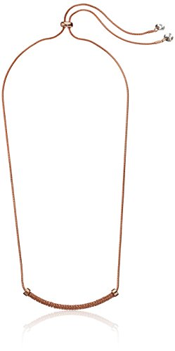 Kenneth Cole New York Supercharged Collection Women's Rose Gold Mesh Bar Frontal Necklace, Black (Diamond Mesh Necklace)