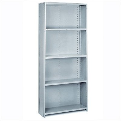 Lyon PP8745M Commercial Stand Alone Closed Offset Angle Shelving with 6 Medium Duty Shelves, 36