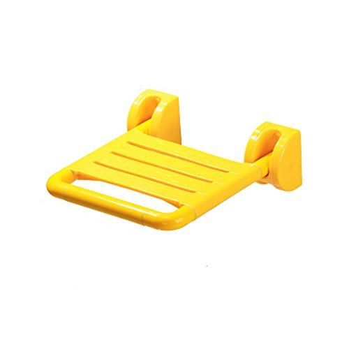Wall Bath Bathroom Cast (Shower chair- Shower Seat Folding Seat Anti-skidding Wall Chair Change Shoes Bathroom Rest Corridor Changing Shoes (Color : Yellow))