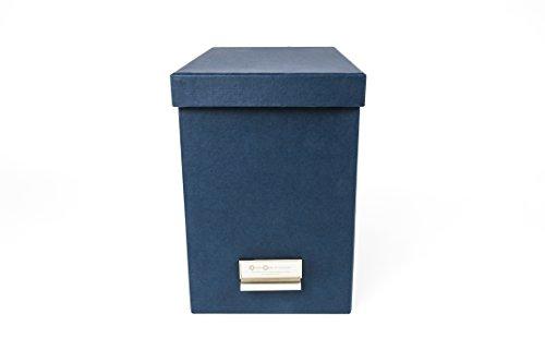 (Bigso John Desktop File Storage Box, Blue)