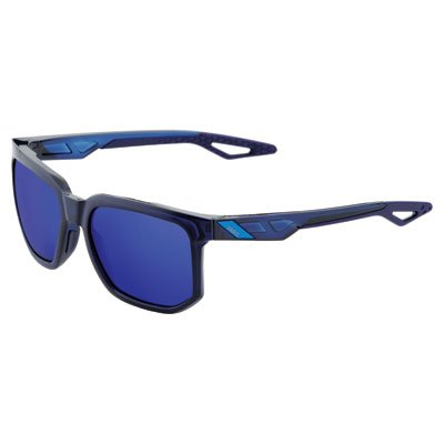 100% Centric Sunglasses Polished Transluscent Blue W, One Size - - Glasses Road Frames Country
